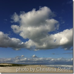 clouds and beach