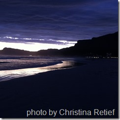 sunset false bay