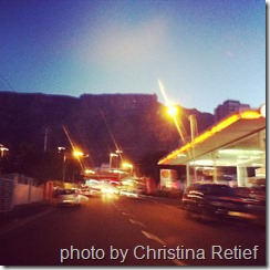 table mountain by night